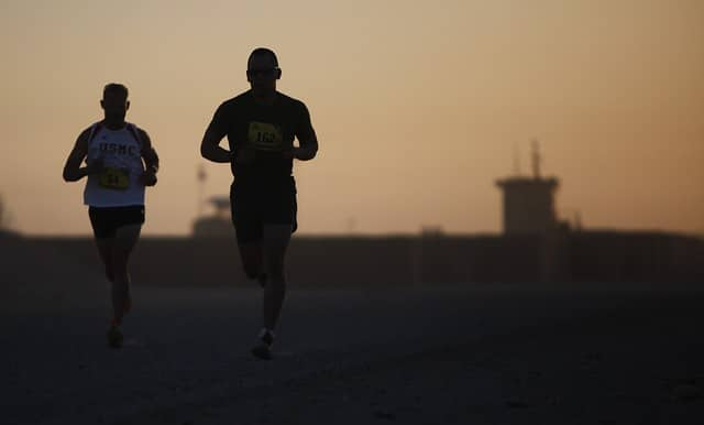 Steven Dombrowski Marathon training